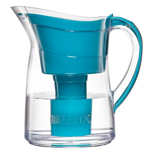 brita® mini plus 6-cup water filtration pitcher turquoise : target
