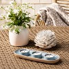 3 Space Tealight Tray Blue - Threshold™ - image 2 of 3
