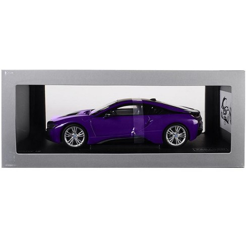 BMW i8 Purple with Black Top 1/18 Diecast Model Car by Paragon - image 1 of 1