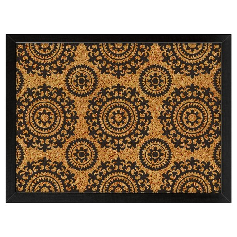 "Wall Pops!  Cork Bulletin Board Black Medallions 23.5"" x 17"" - image 1 of 2"