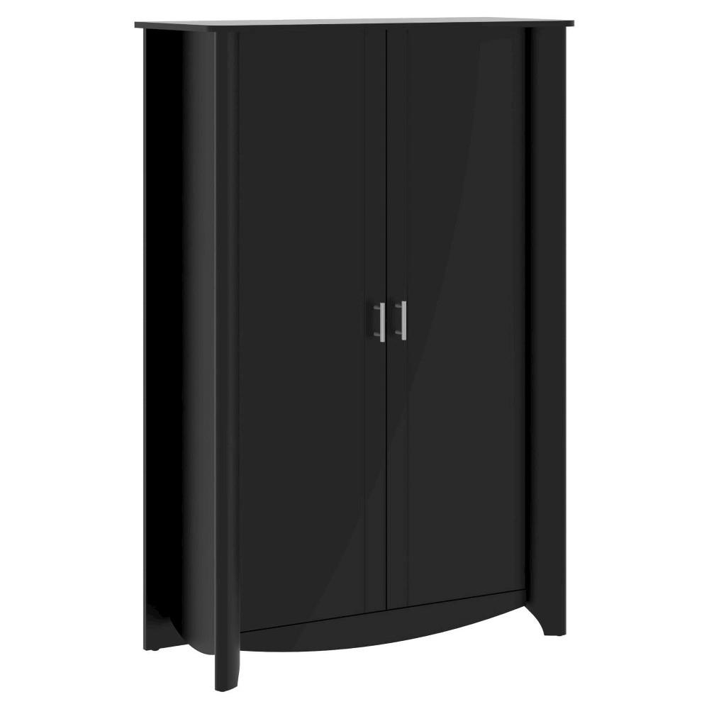 Aero 2-Door Tall Storage - Black - Bush Furniture