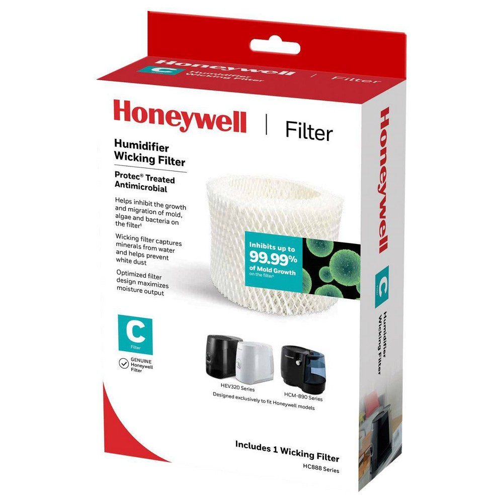 Honeywell Replacement Wicking Filter Use with cool moisture evaporative humidifiers. Honeywell evaporative humidifiers are designed around the replacement filter to optimize performance and output. For best results, use only genuine Honeywell replacement filters.