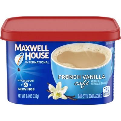 Maxwell House French Vanilla Cafe Medium Roast Beverage Mix - 8.4oz