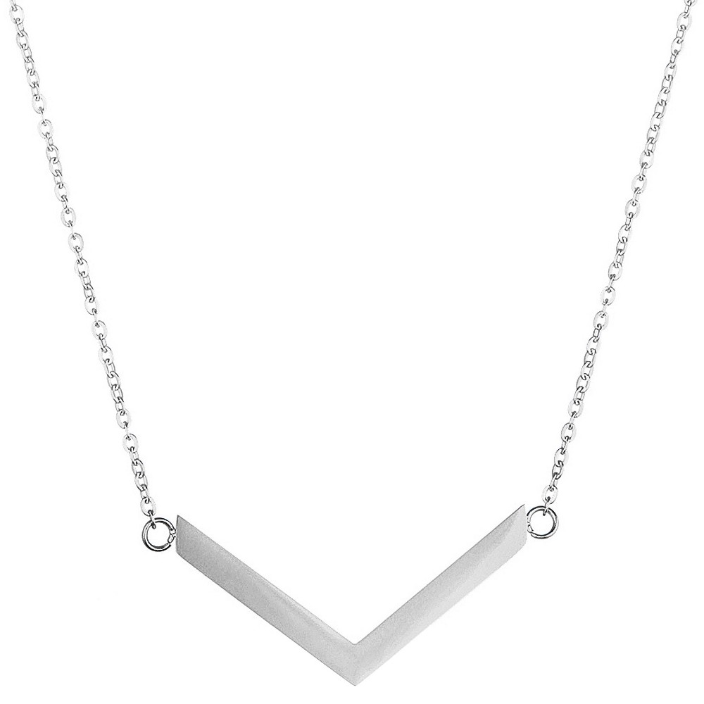 "Image of ""ELYA Chevron Chain Necklace - Silver (18""""), Women's"""