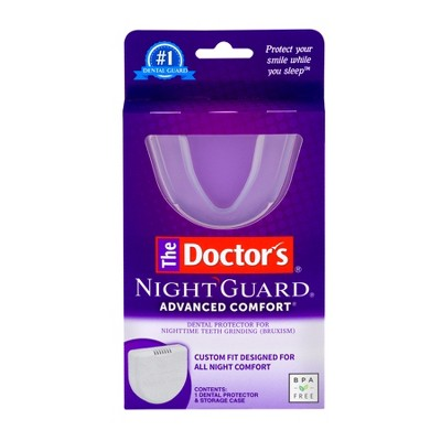 The Doctor's Advanced Comfort Night Guard for Nighttime Teeth Grinding - 1ct Guard with Storage Case