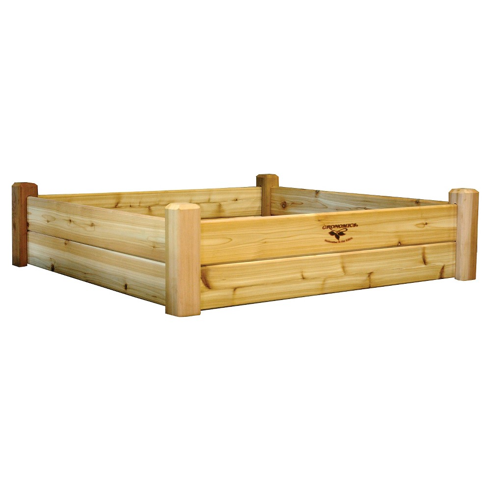 "Image of ""50.25 x 50.25"""" x 13"""" Raised Square Garden Bed - Western Red Cedar - Gronomics"""
