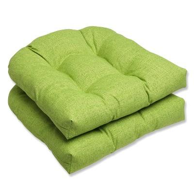 Outdoor 2-Piece Wicker Chair Cushion Set - Green