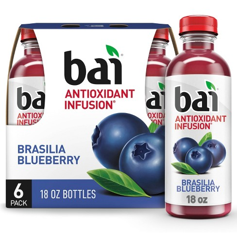 Bai Brasilia Blueberry Antioxidant Water - 6pk/18 fl oz Bottles - image 1 of 4