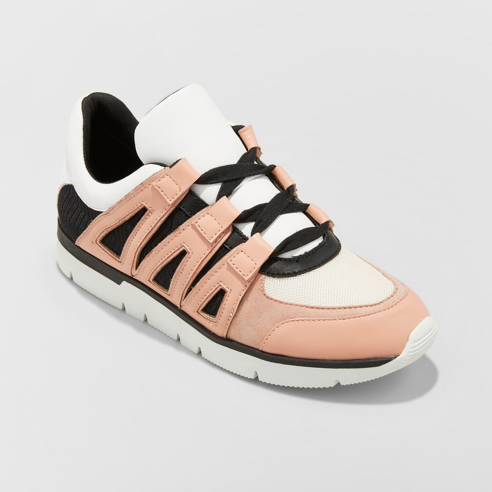 Women's Karlo Lace Up Sneakers - A New Day Blush 7, Size: Small, Pink