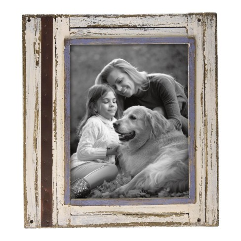 8X10 Rustic Wood Photo Frame White - Foreside Home and Garden - image 1 of 2