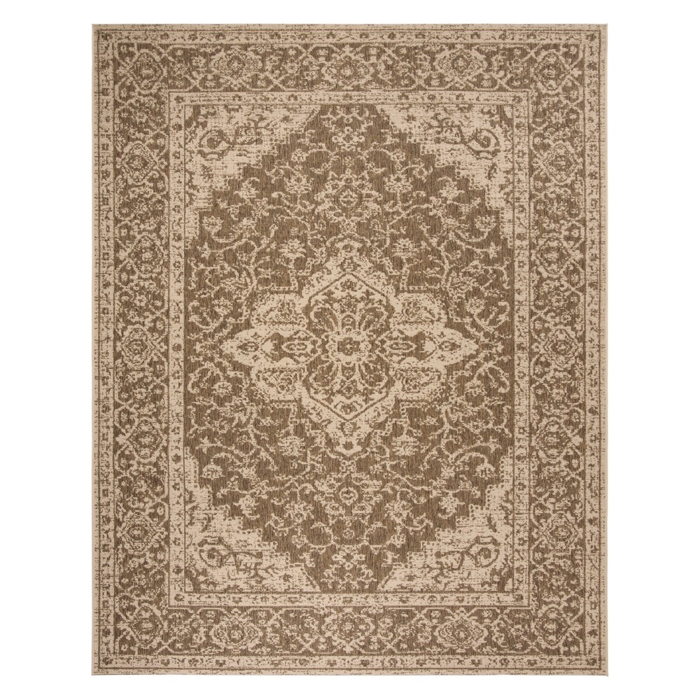8'X10' Medallion Loomed Area Rug Beige/Cream (Beige/Ivory) - Safavieh
