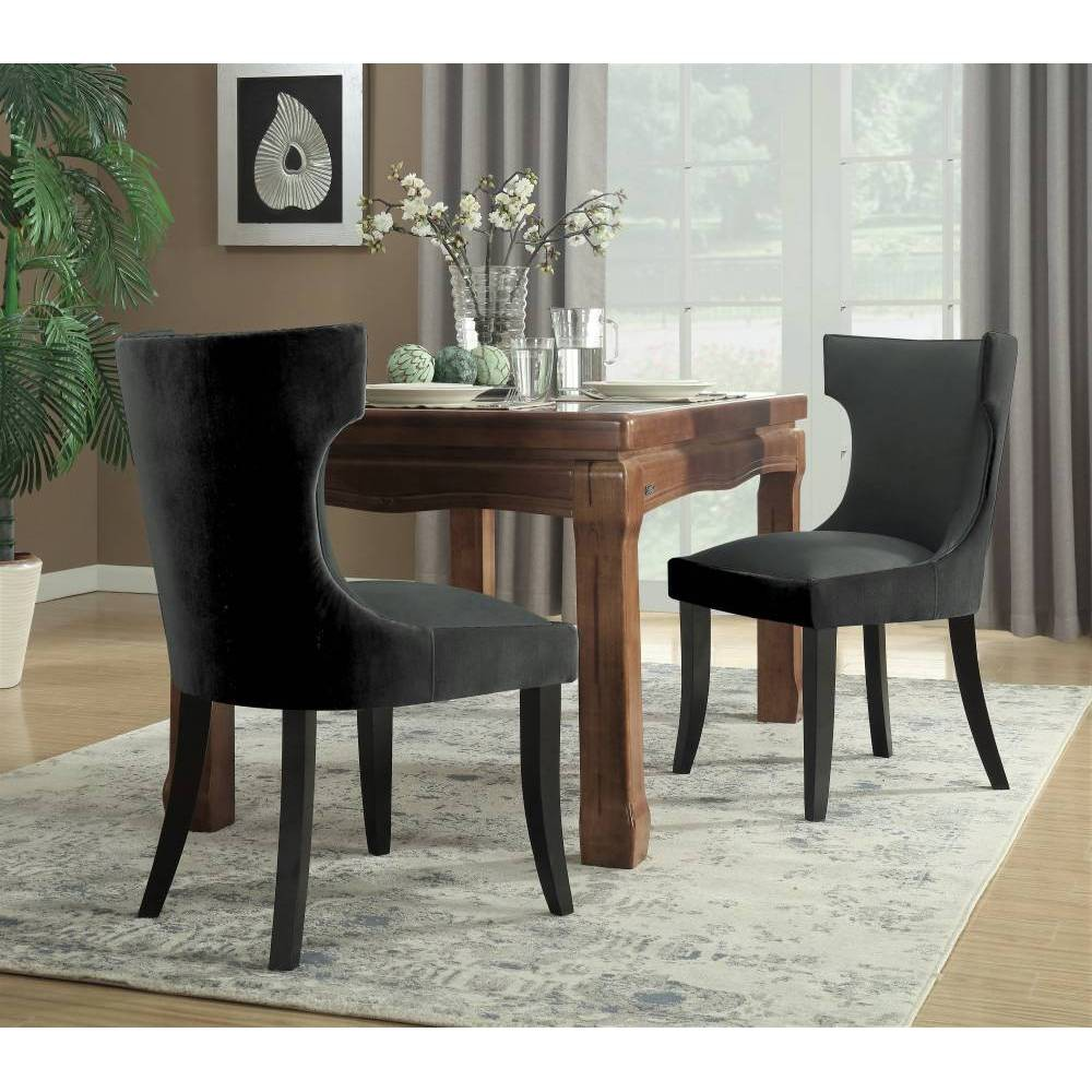 Set of 2 Zeke Dining Chair Charcoal/Gray - Chic Home Design was $389.99 now $233.99 (40.0% off)