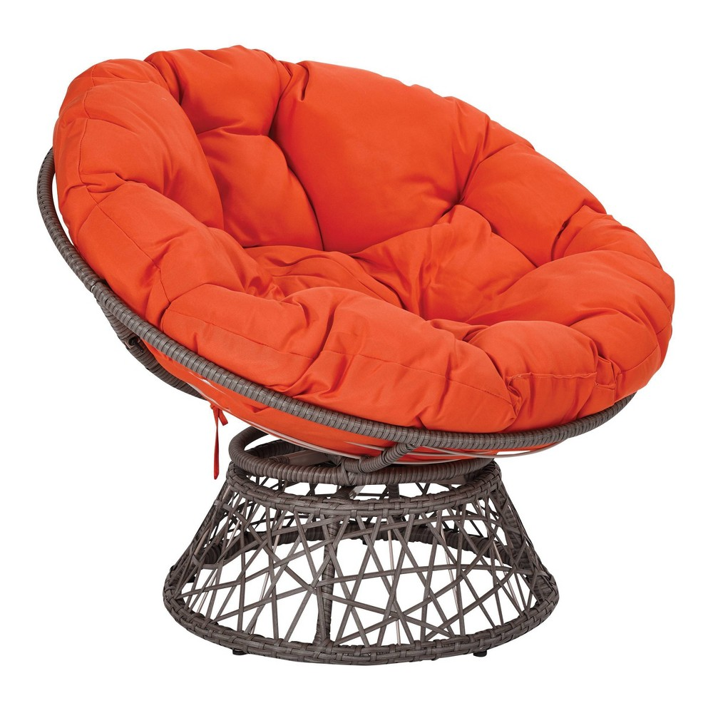 Papasan Chair Orange - OSP Home Furnishings Papasan Chair Orange - OSP Home Furnishings Gender: unisex.