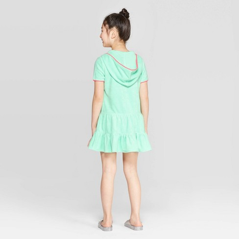 354beded9c Girls' Loop Terry Cover Up - Cat & Jack™ Green : Target