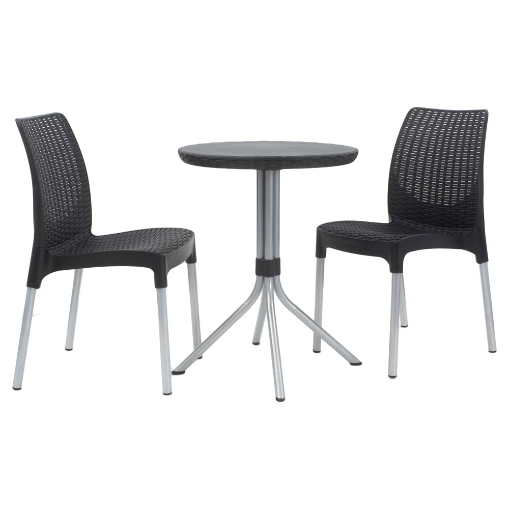 Image of Chelsea Outdoor Bistro Set 3pc Charcoal - Keter, Grey Gray