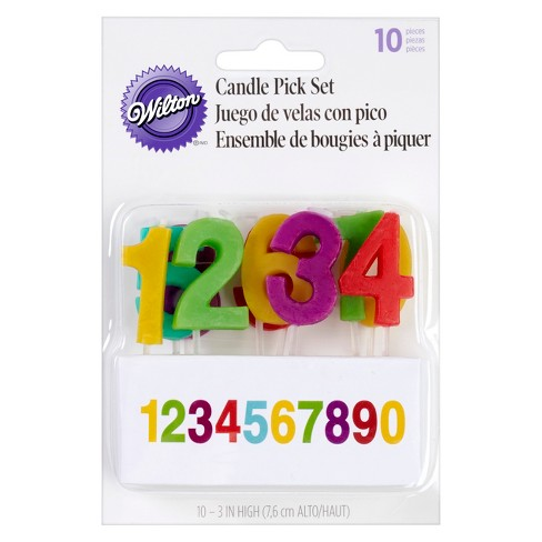 Wilton Numeral Candle Set - 10ct - image 1 of 2