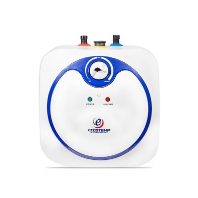Eccotemp EM-7.0 Indoor Electric Powered Mini Storage Tank Instant Hot Water Heater, 7 Gallon, White