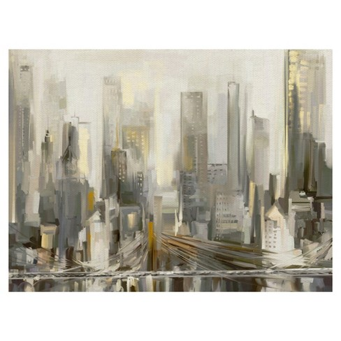 "30""x40"" City Lights By Studio Arts Art On Canvas - Fine Art Canvas - image 1 of 4"