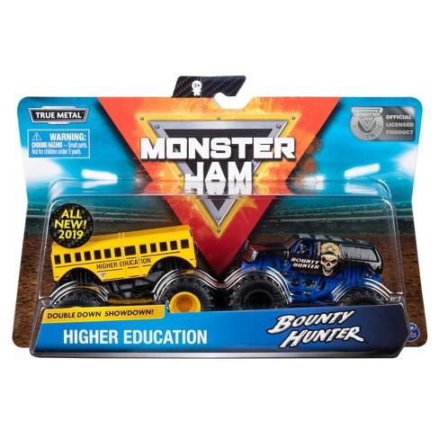Monster Jam Official Higher Education vs. Bounty Hunter 2pk Monster Truck Die-Cast Vehicles - image 1 of 4