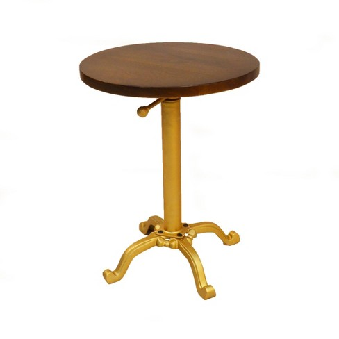 Miller Adjustable Vintage Accent Table Gold - Carolina Chair & Table - image 1 of 3