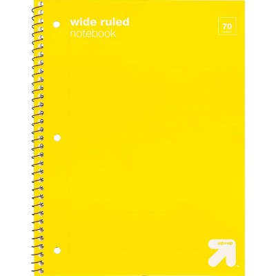 Wide Ruled 1 Subject Flexible Plastic Cover Spiral Notebook - up & up™
