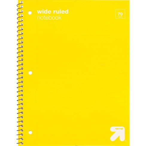 Wide Ruled 1 Subject Flexible Plastic Cover Spiral Notebook - Up&Up™  - image 1 of 1