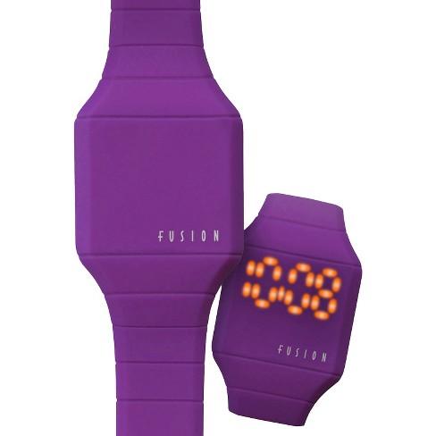 Girls' Fusion Hidden LED Digital Watch - Purple - image 1 of 4