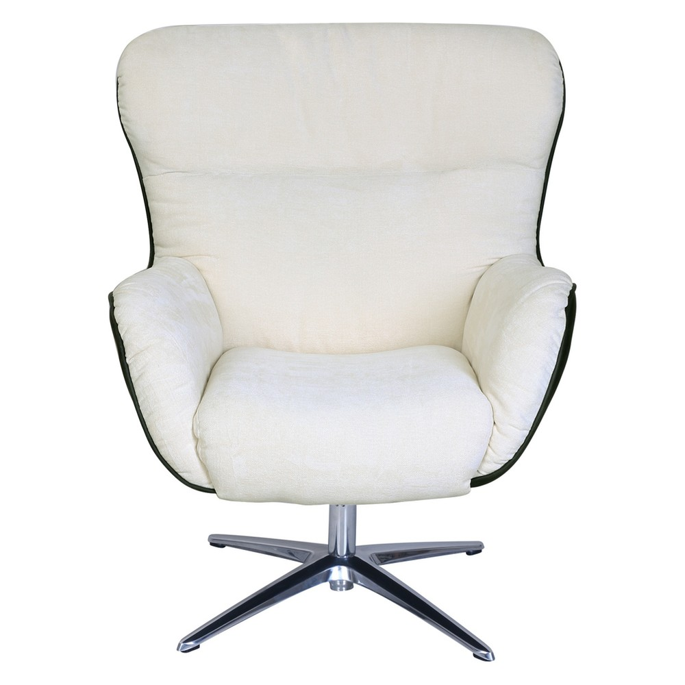 Style Rylie Collaboration Lounge Chair Cream (Ivory)/Black Synergy - Serta