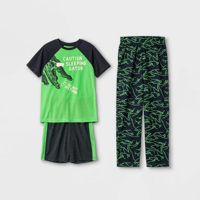 Boys' 3pc Alligator Pajama Set - Cat & Jack™ Green