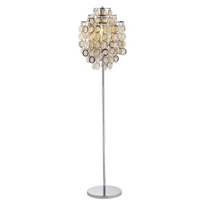 Adesso Shimmy Floor Lamp Silver