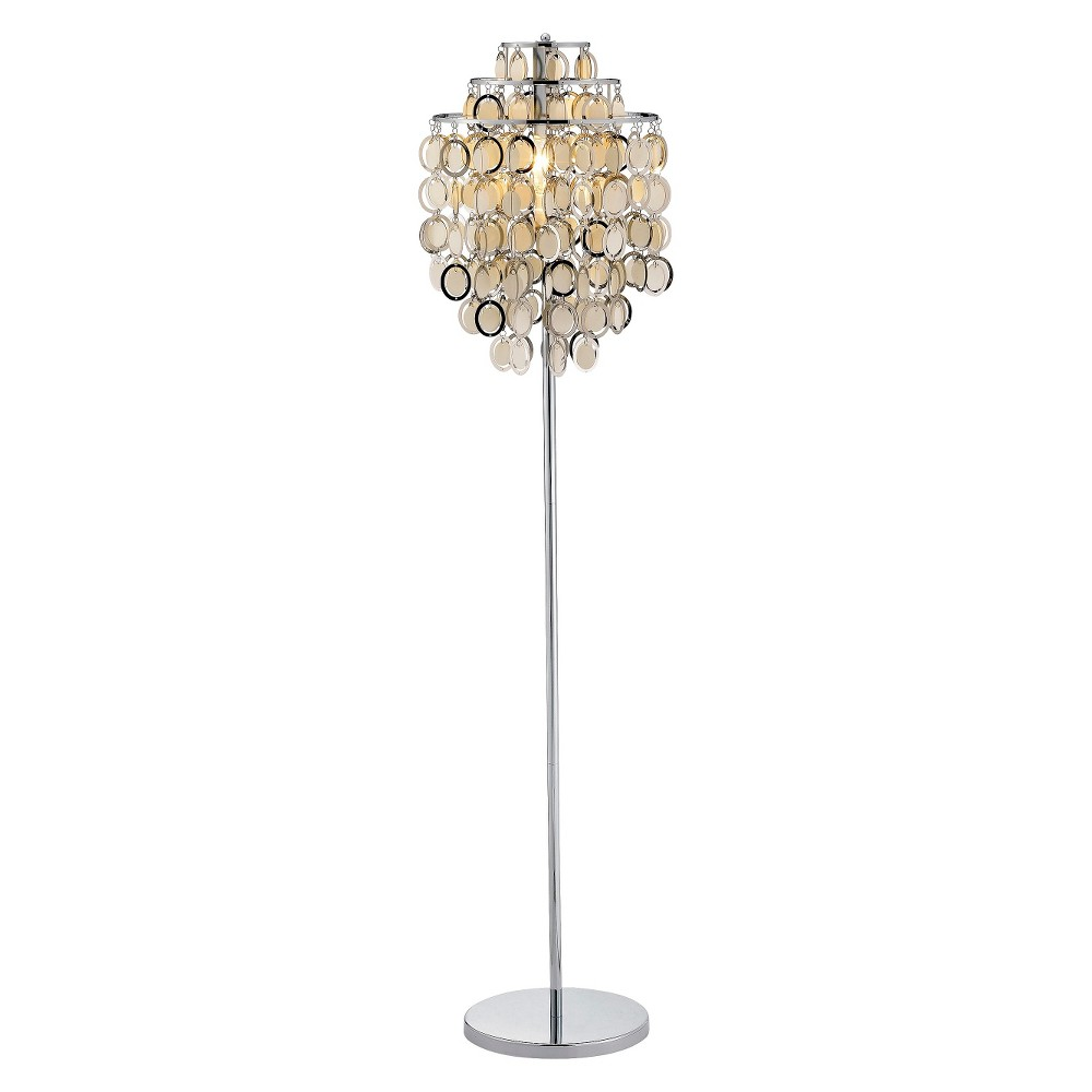 Image of Adesso Shimmy Floor Lamp Silver (Lamp Only)