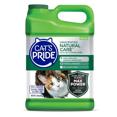 Cat's Pride Natural Care Unscented Multi-Cat Lightweight Litter -15lb