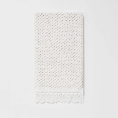 Knotted Fringe Hand Towel White - Threshold™