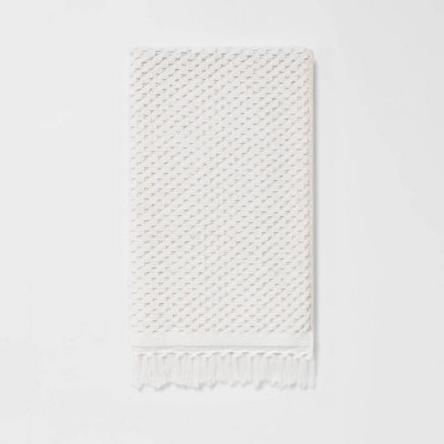 Knotted Fringe Hand Towel White - Threshold™ - image 1 of 4