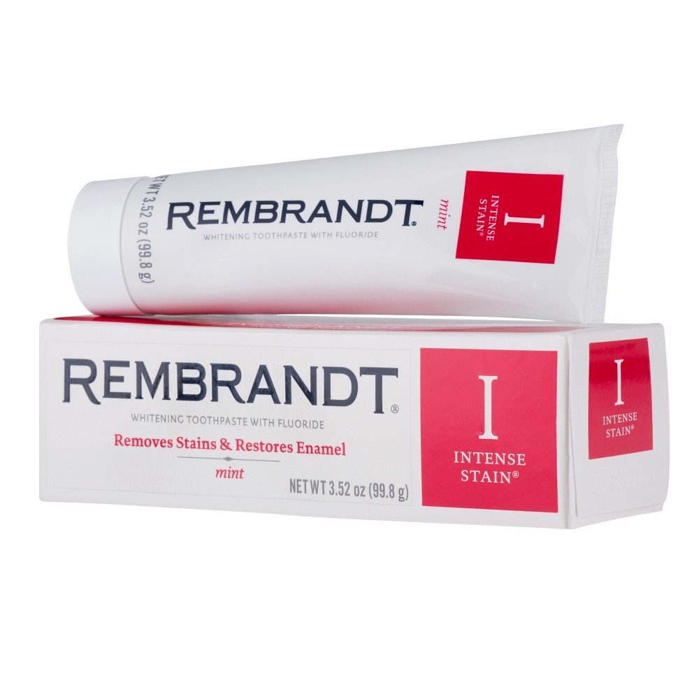 Image of Rembrandt Intense Stain Whitening Toothpaste Mint - 3.52 oz