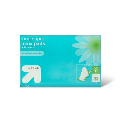 Long Super Absorbency Maxi Pads - 32ct - up & up™