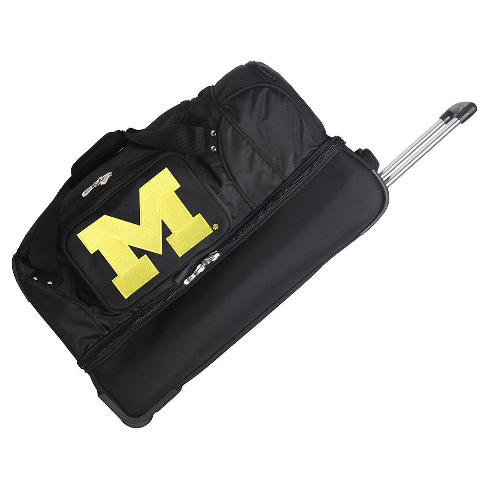 NCAA Michigan Wolverines 27'' Rolling Drop Bottom Duffel Bag