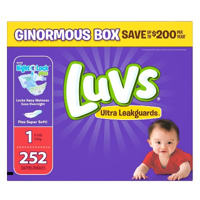 Luvs Diapers, Ginormous Pack - Size 1 (252 ct)