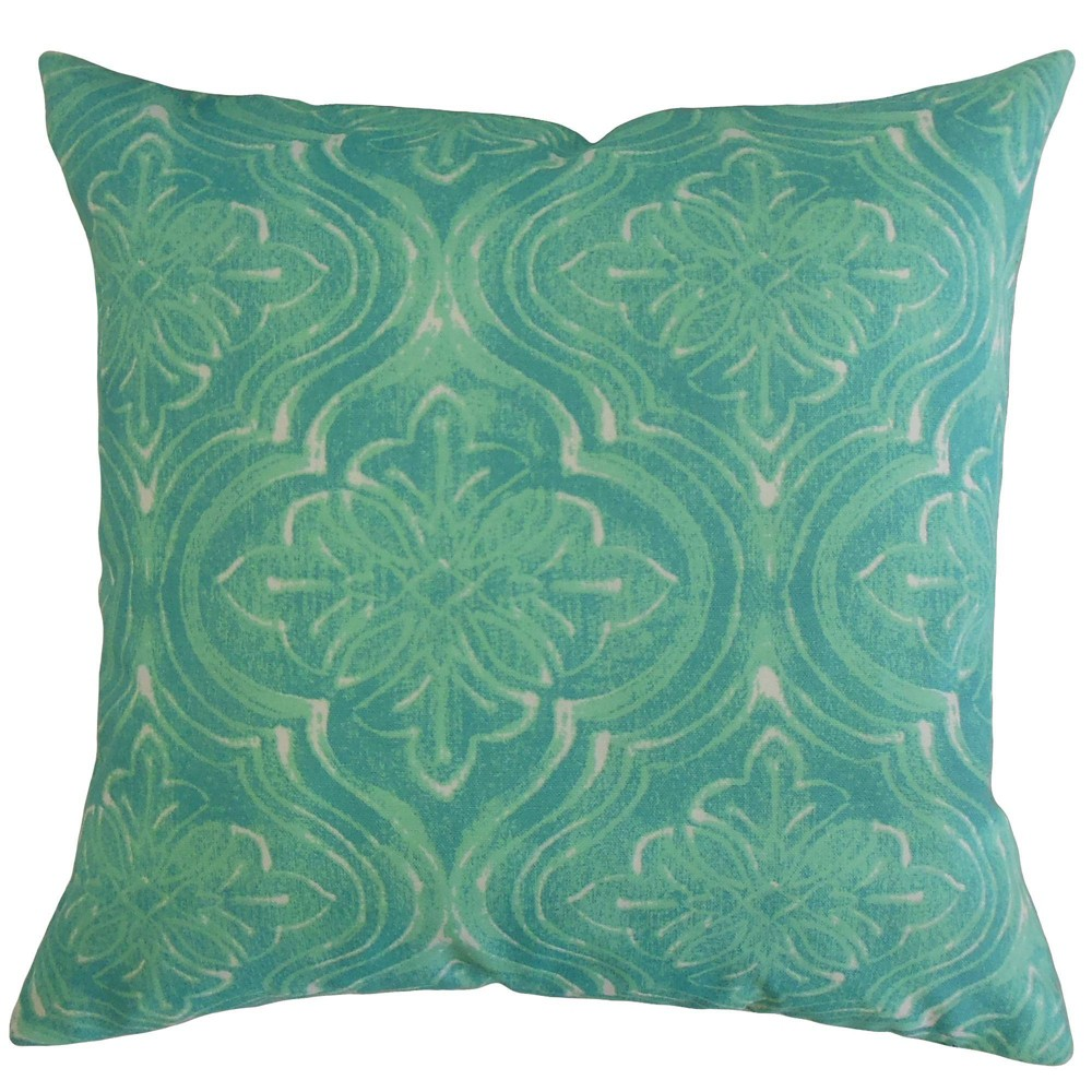 Damask Throw Pillow Surfside - The Pillow Collection Pattern: Geometric.