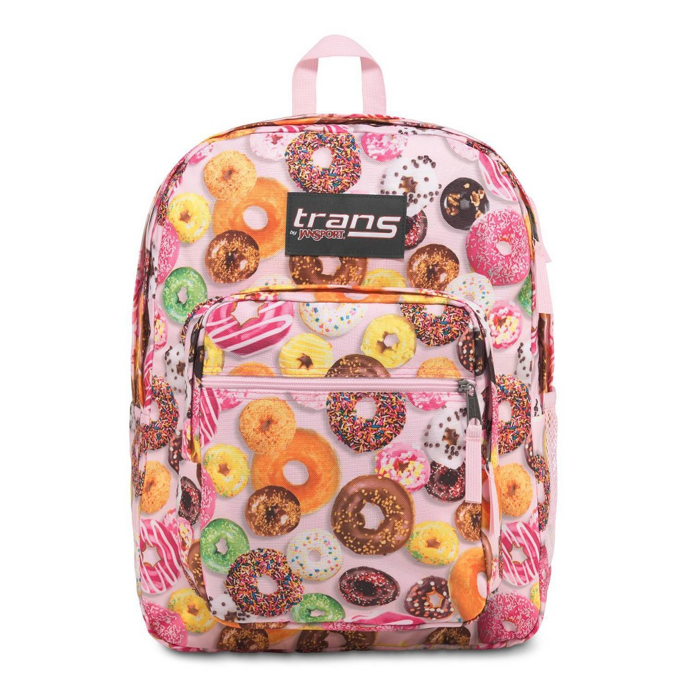 Trans by JanSport 17 Supermax Backpack - Donuts, Gray Stripe