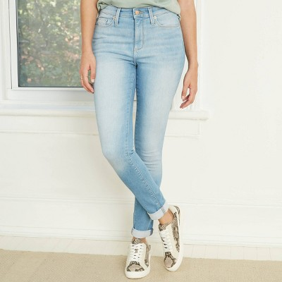 Women's High-Rise Fleece Lined Skinny Ankle Jeans - Universal Thread™