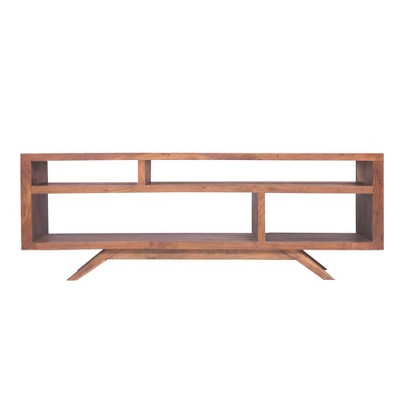 Wooden TV Unit with Splayed Legs Brown - The Urban Port
