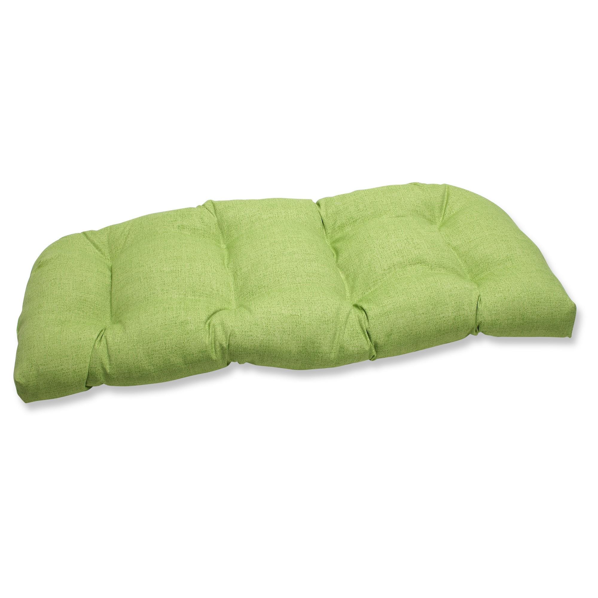 Outdoor Wicker Bench/Loveseat/Swing Cushion - Green