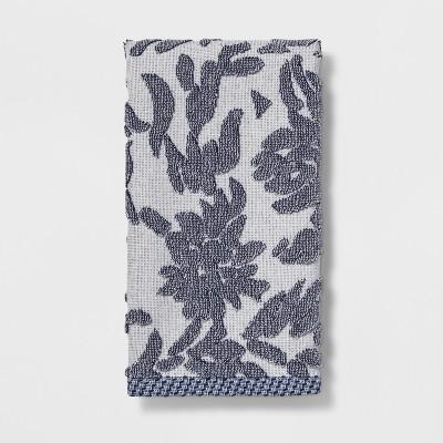 Floral Design Hand Towels Blue - Threshold™