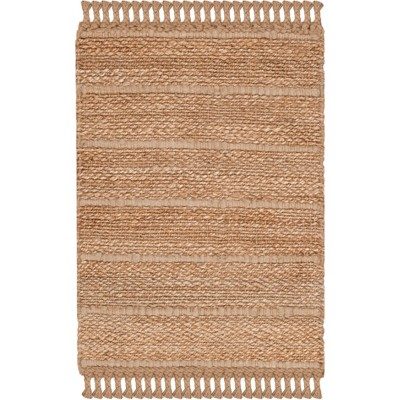 2'X3' Solid Woven Accent Rug Natural/Light Gray - Safavieh