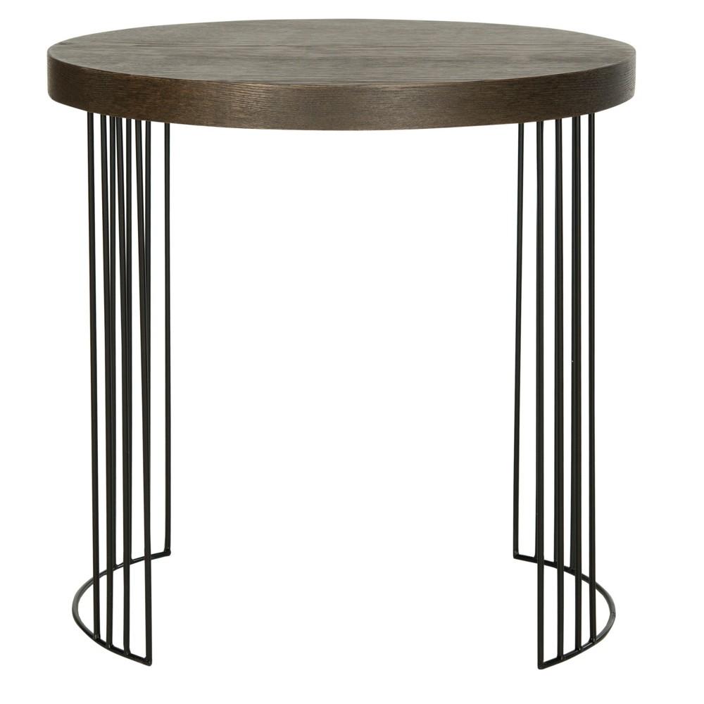 Kelly Side Table - Safavieh, Brown/Black