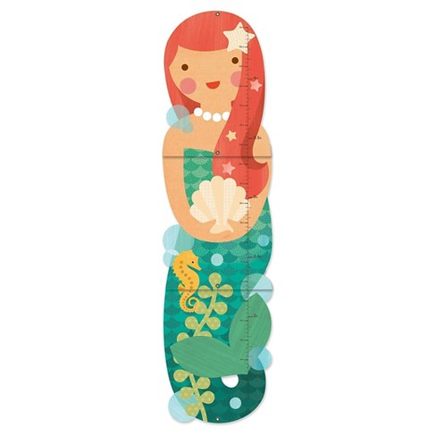 Petit Collage Little Miss Mermaid Folding Growth Cart - image 1 of 1