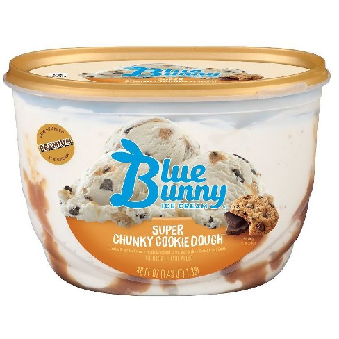 Blue Bunny Super Chunky Cookie Dough Ice Cream - 46 fl oz - image 1 of 5