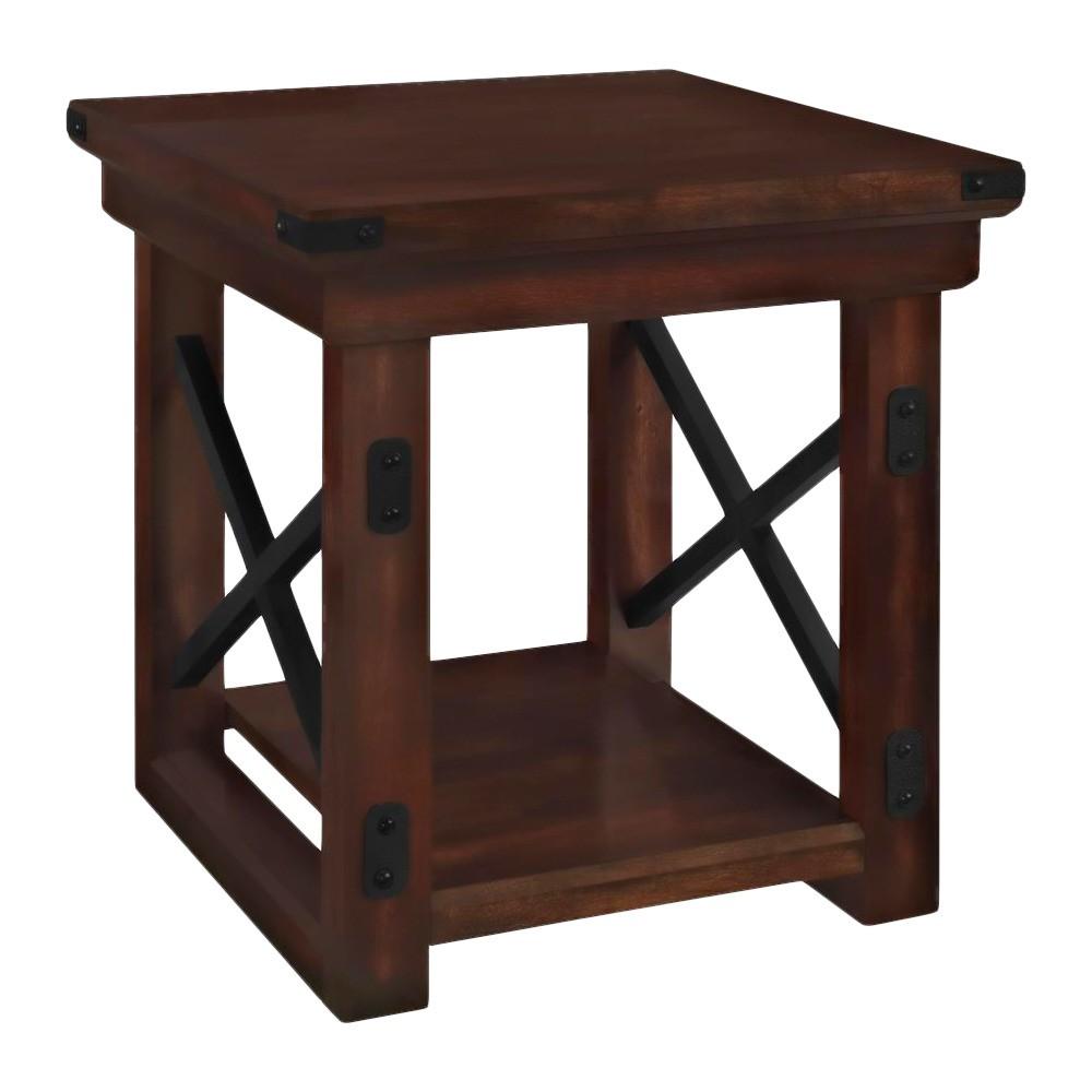 Hathaway Wood Veneer End Table - Espresso - Room & Joy, Brown
