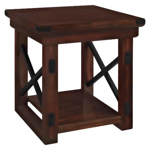 Hathaway Wood Veneer End Table Espresso - Room & Joy - image 1 of 4